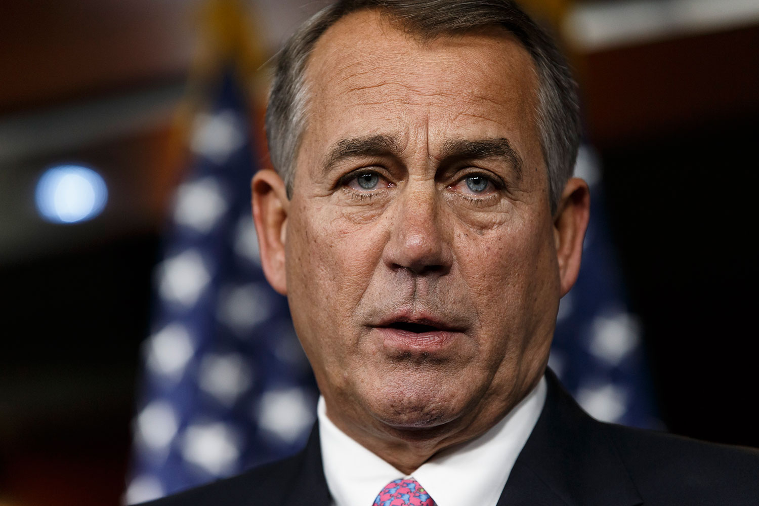 House Speaker John Boehner of Ohio speaks during a news conference on Capitol Hill in Washington, Feb. 6, 2014.
