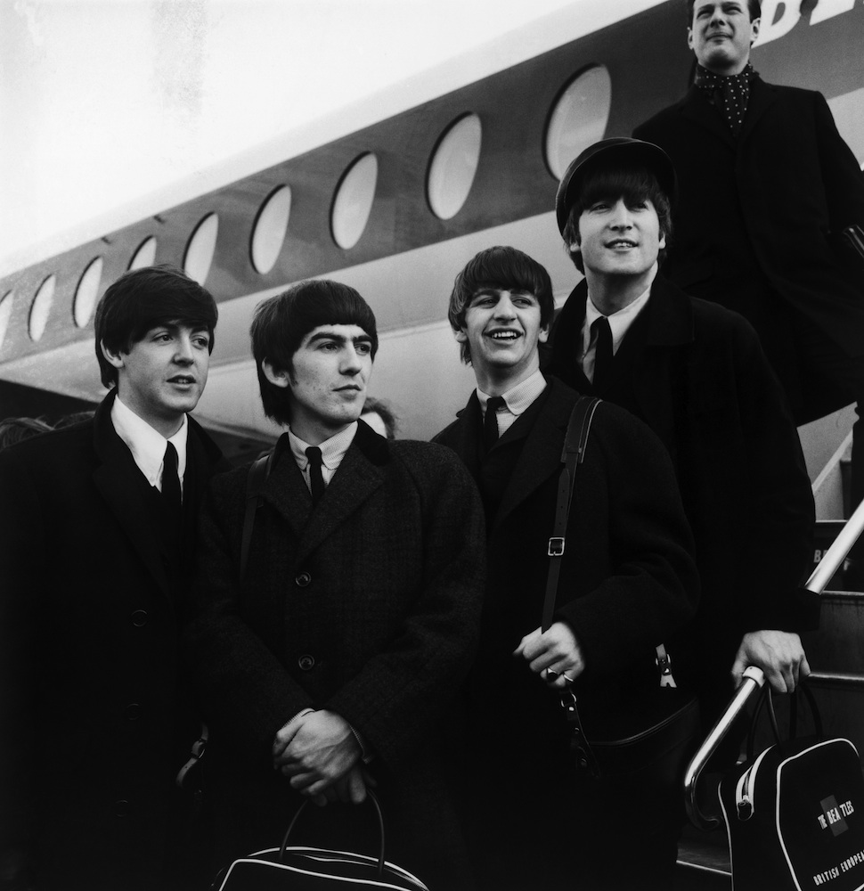 The Beatles at London Airport, February 1964