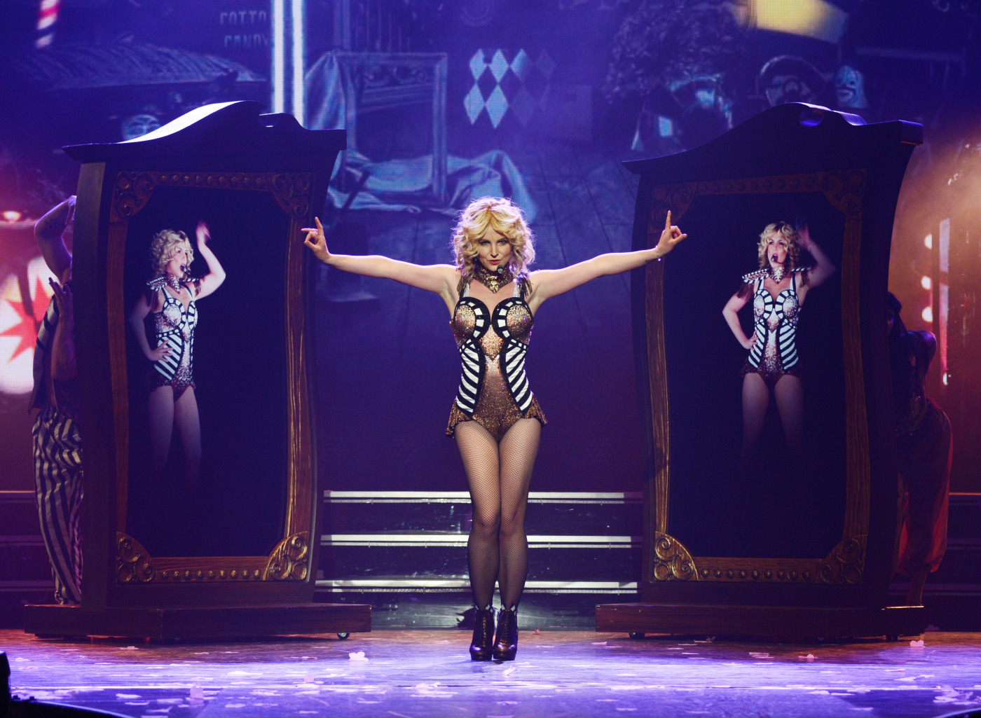 Britney Spears rehearses  Britney: Piece of Me  at Planet Hollywood Resort & Casino Dec. 26, 2013, in Las Vegas.