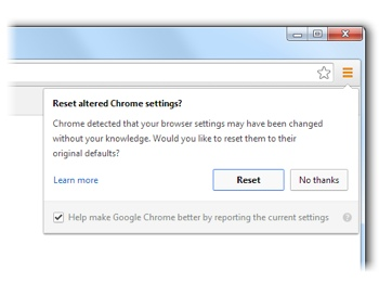 Google Chrome fights back against hijackers.
