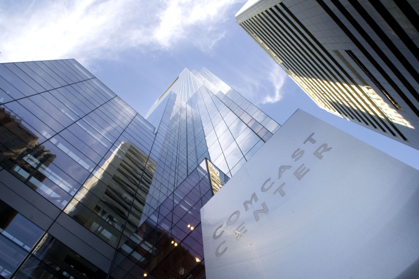 The Comcast Center, home to Comcast's corporate headquarters, in Philadelphia.