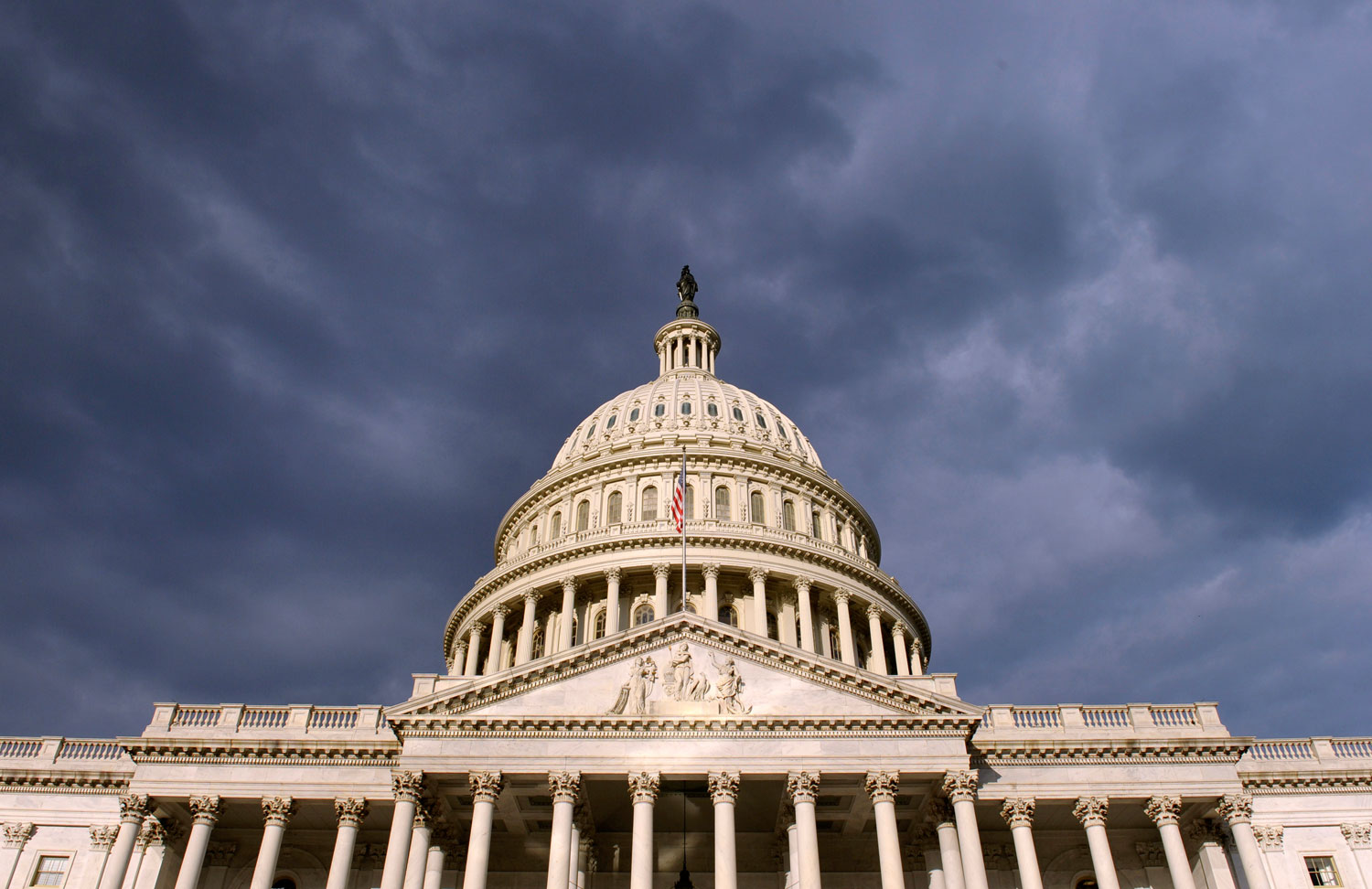 Dark clouds pass over the Capitol in Washington, Oct. 1, 2013.