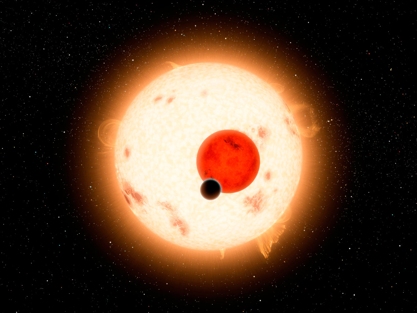 Kepler 16b, one of the many planets discovered by the Kepler space telescope, is one of the few with two suns