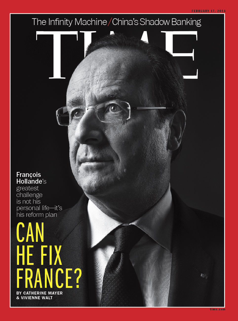 The cover of TIME International.