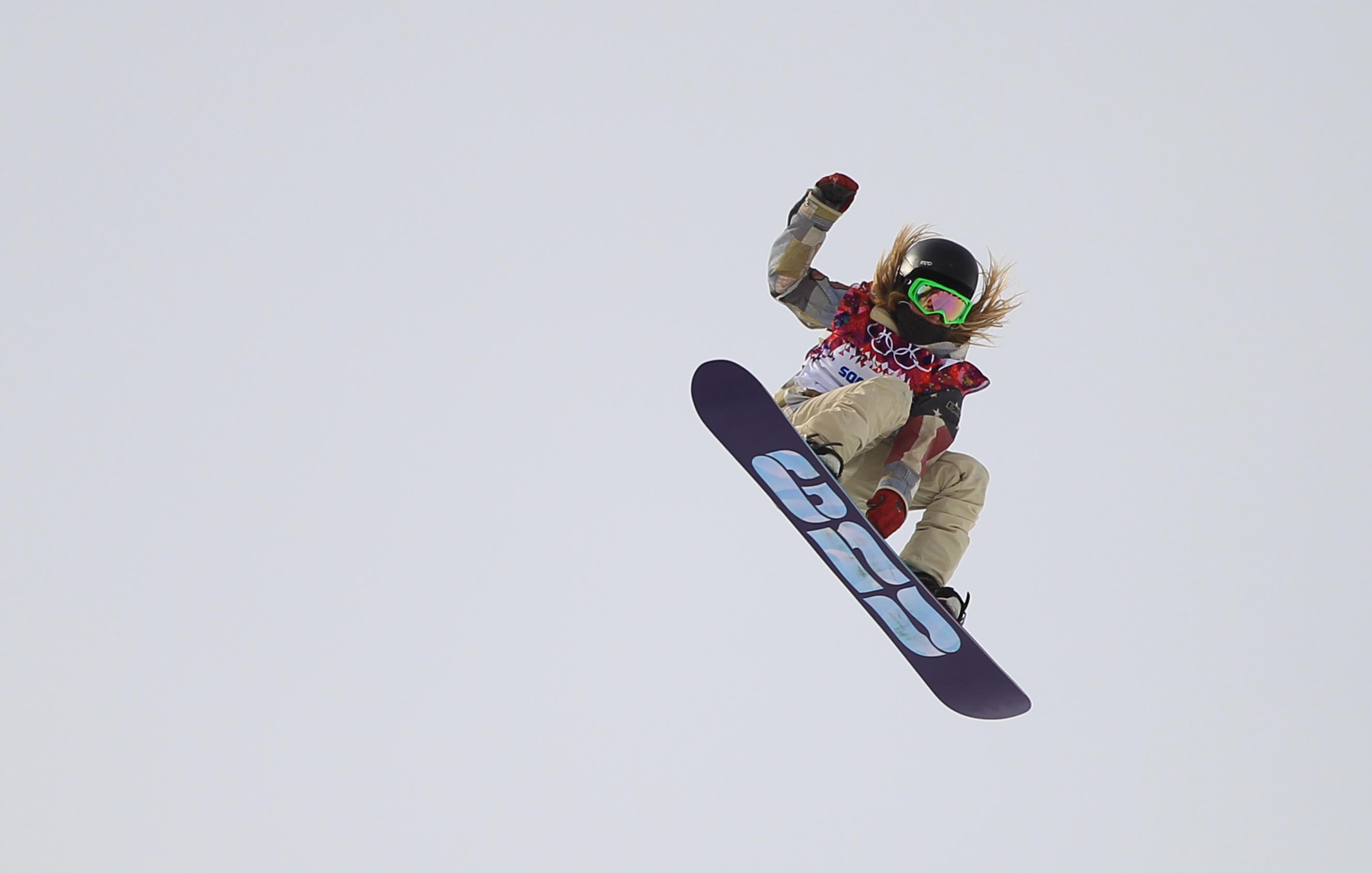 Jamie Anderson of United States wins the gold medal at the final competition in slopestyle Sunday at the Sochi 2014 Winter Olympics