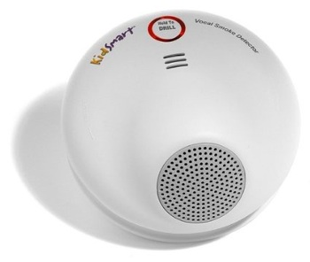 The KidSmart Vocal Smoke Alarm aims to address a major problem with smoke detectors and children, who often aren't immediately roused by a loud alarm.