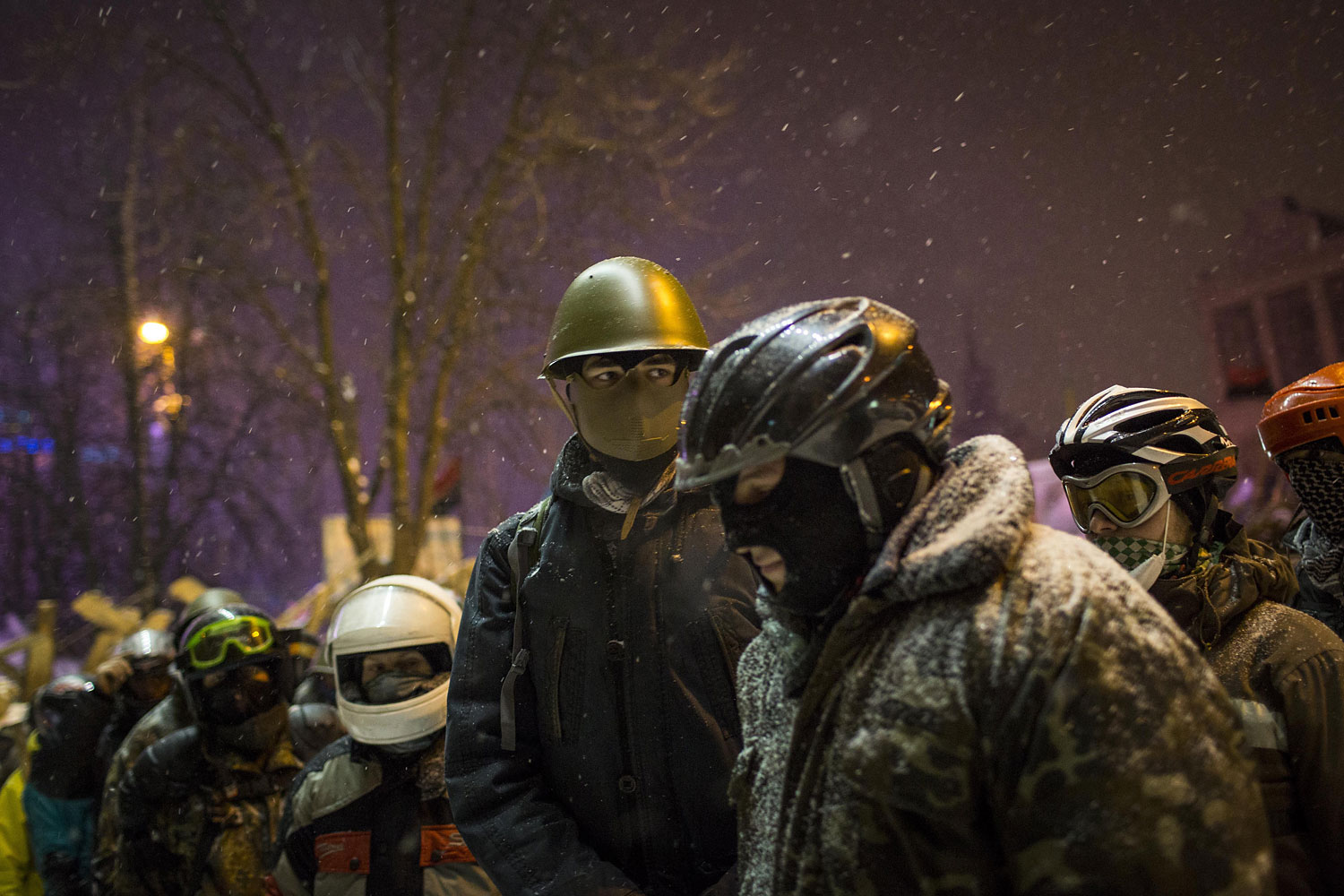 Anti-government protesters gather in Independence Square on Jan. 29, 2014 in Kiev.