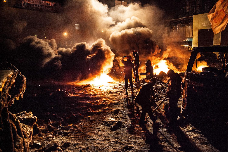 Clashes in Kiev on Jan. 24, 2014.