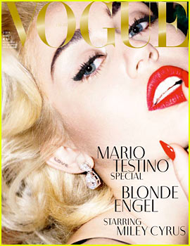 Miley Cyrus on the cover of German Vogue