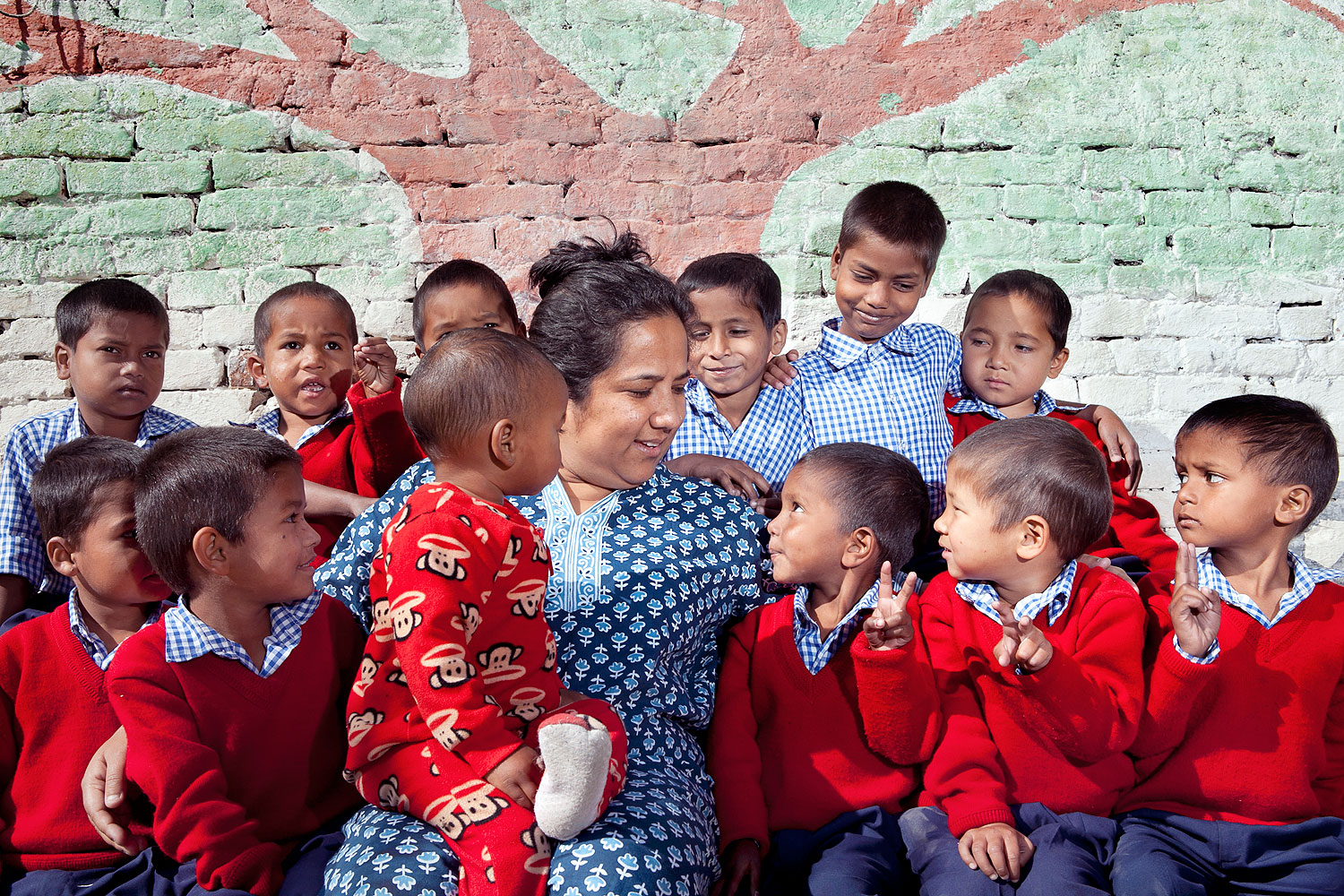 At Basnet's hostel, children learn everything from English and math to painting and taekwondo