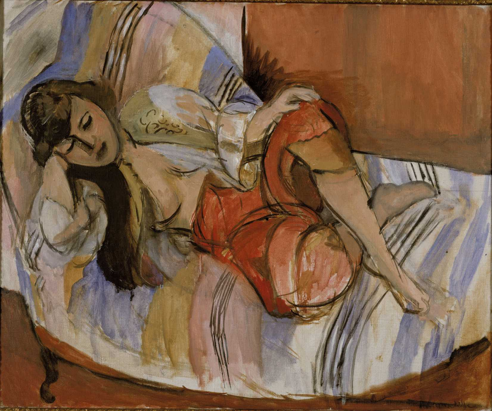 The 1921 painting Odalisque by Henri Matisse, one of the artists whose works is believed to have been retrieved after being seized by the Nazis
