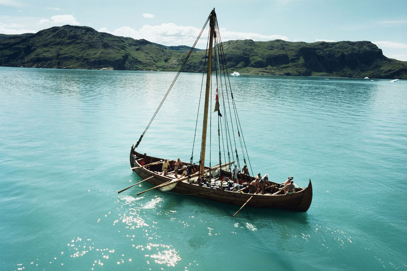 Replica of a Viking ship by Greenland.
