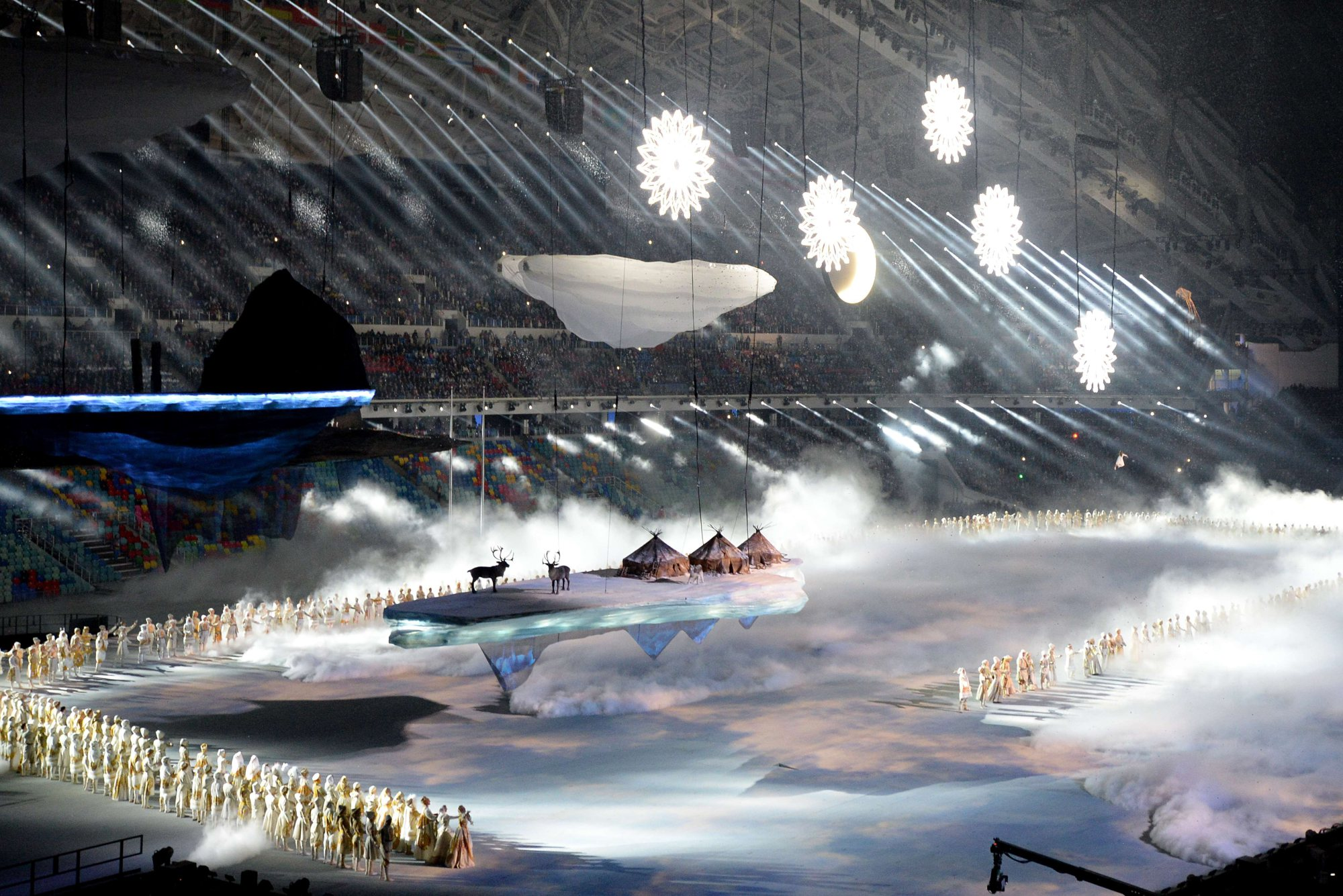 A scene showing the heritage of Russia is portrayed during the Opening Ceremony.