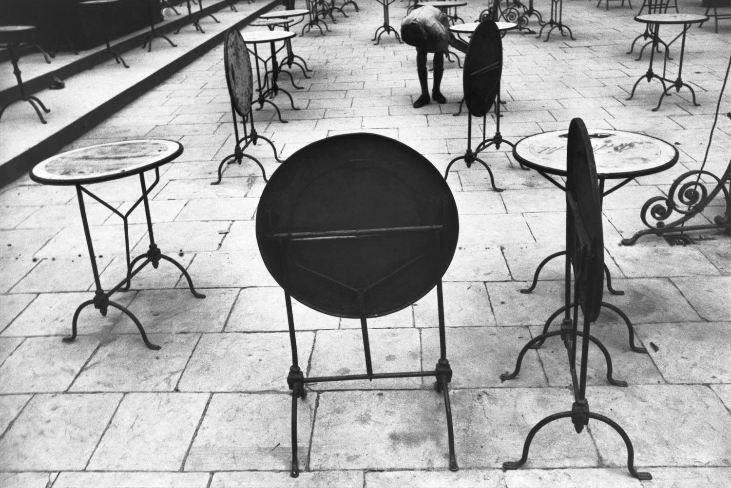 Tables near a cafe in Florence, 1933