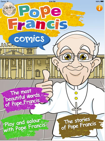 Pope Francis comic books are now in app form.
