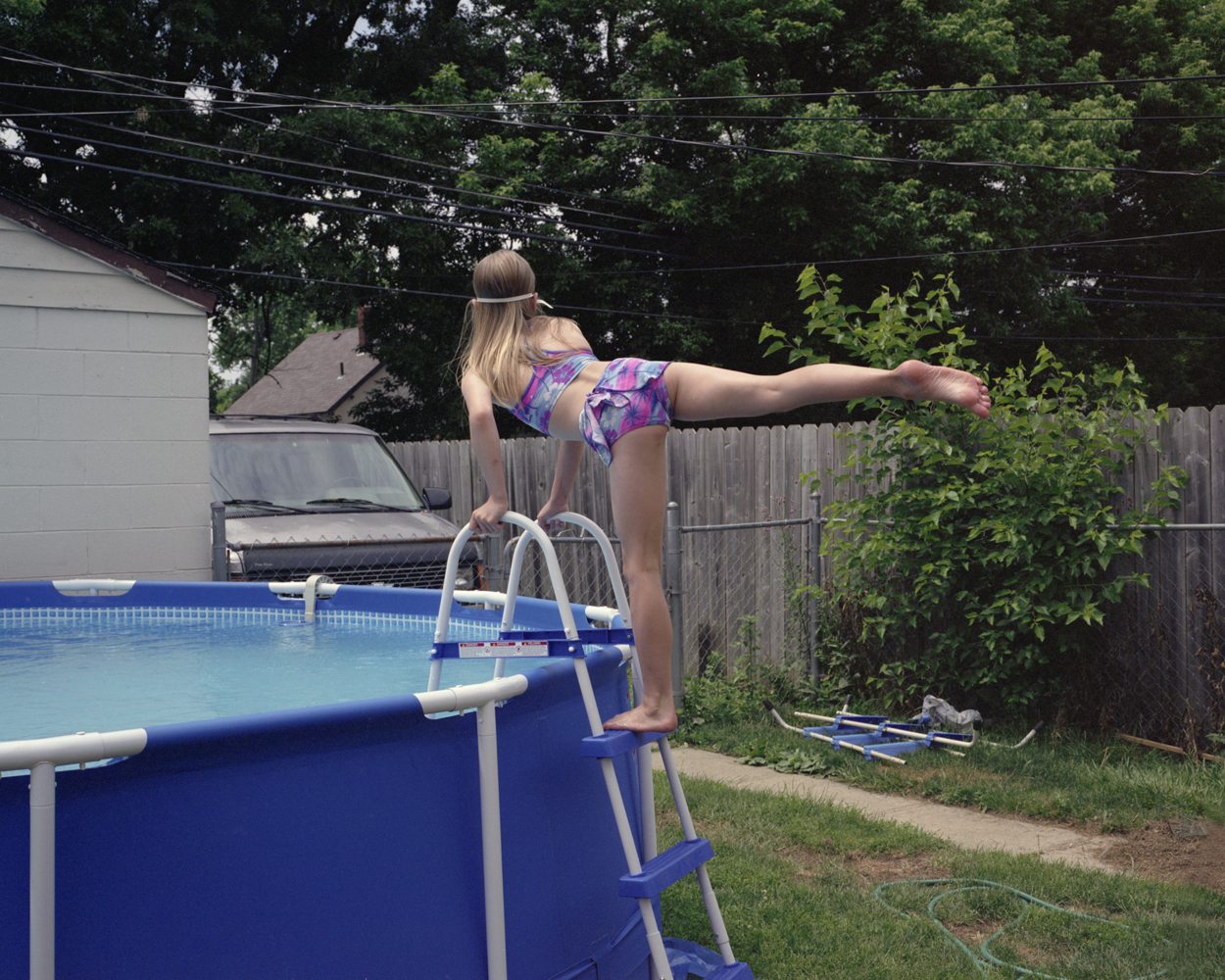 If Erica could swim every single day of the year, she would.  2009