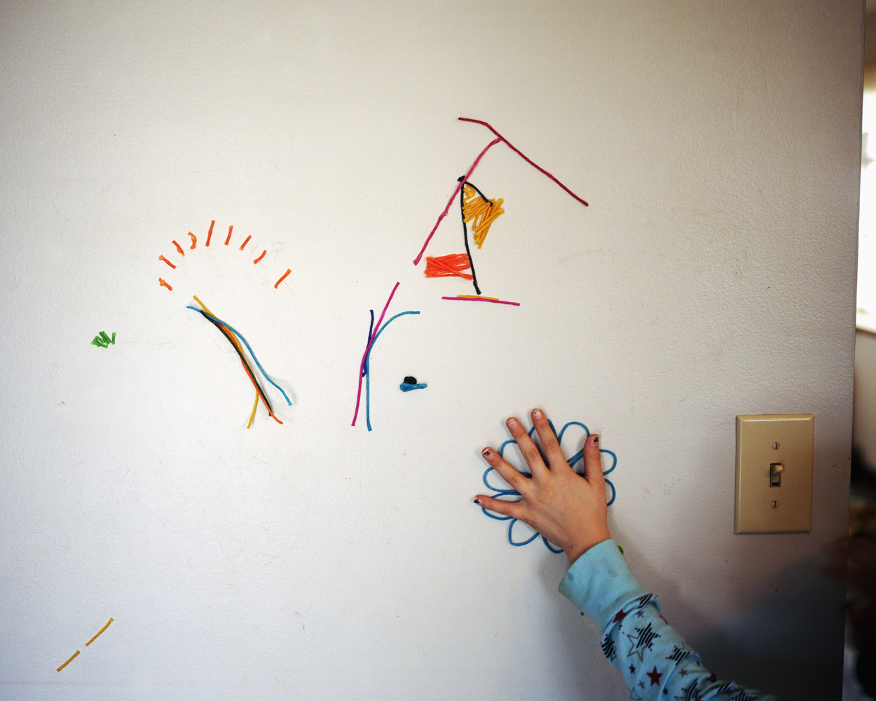 Erica's sticky wall art.  2009
