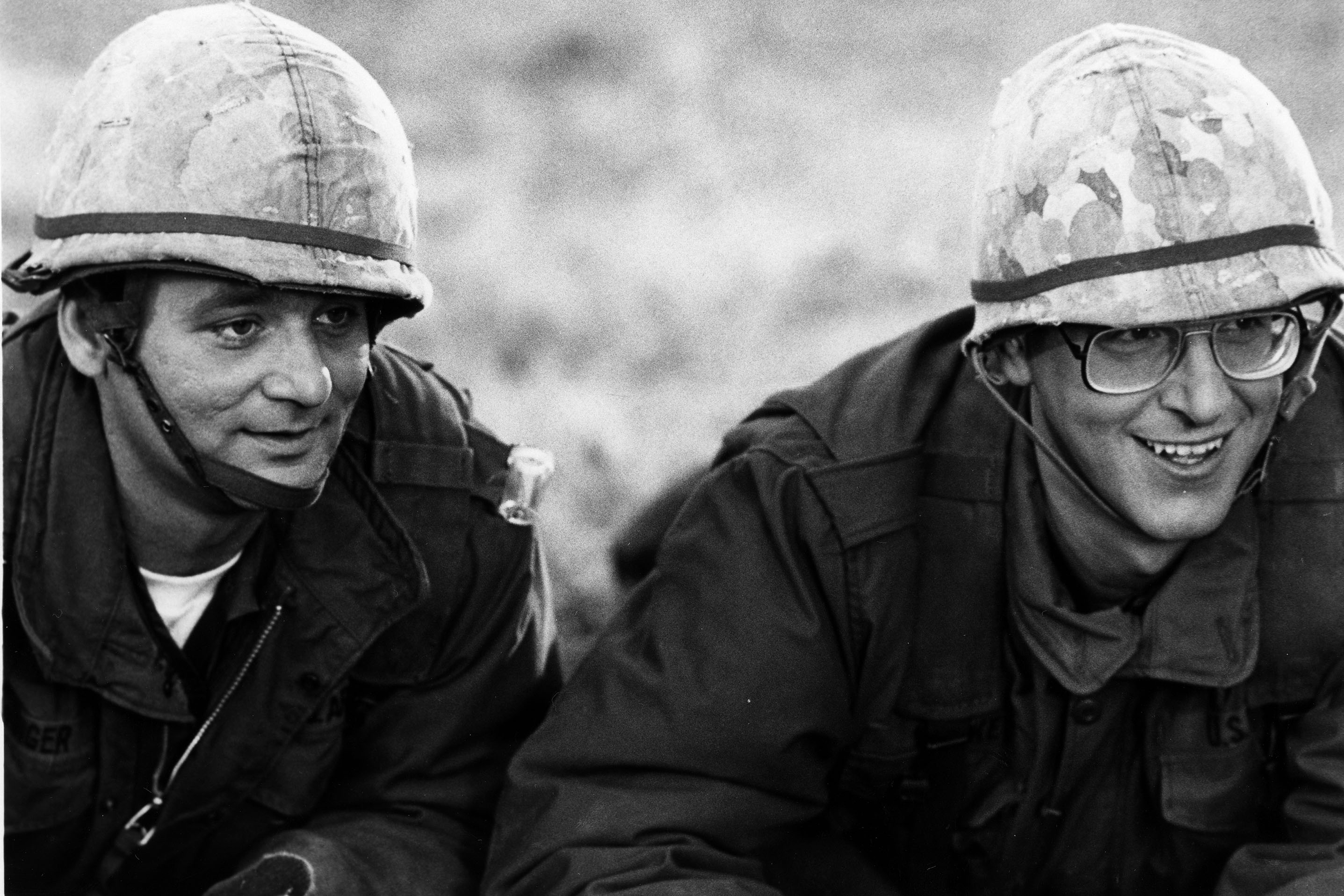Murray (left) and Ramis star in the film 'Stripes' (1981).