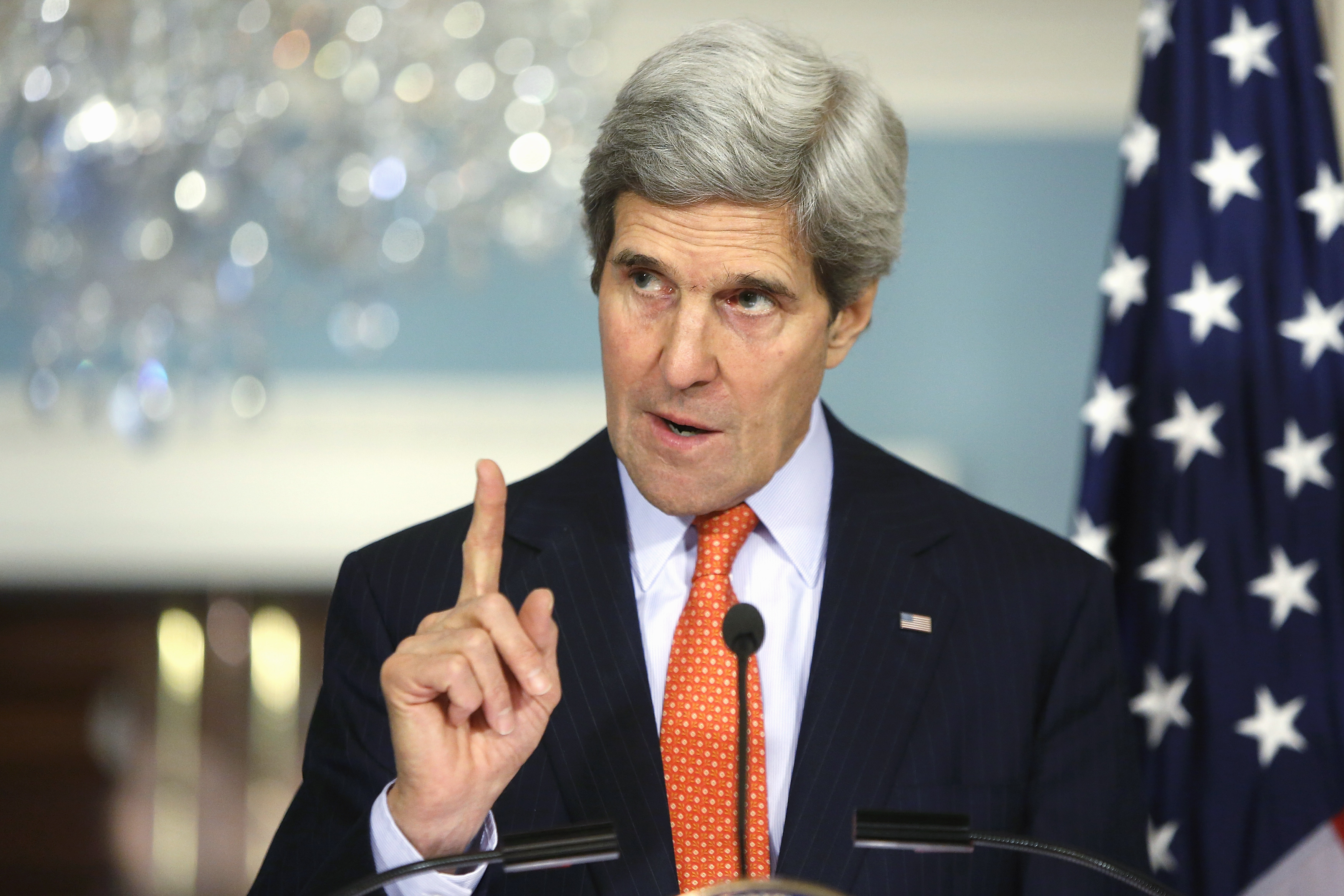 Secretary of State John Kerry warns (yawns) North Korea Tuesday that it won't tolerate its nuclear weapons.