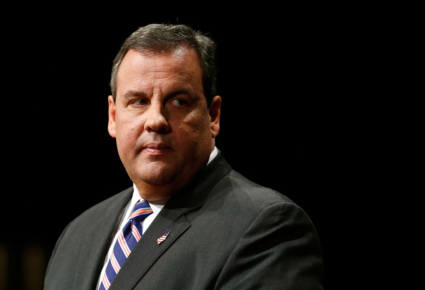 New Jersey Governor Chris Christie delivers an address after being sworn in for his second term as governor on Jan. 21, 2014.