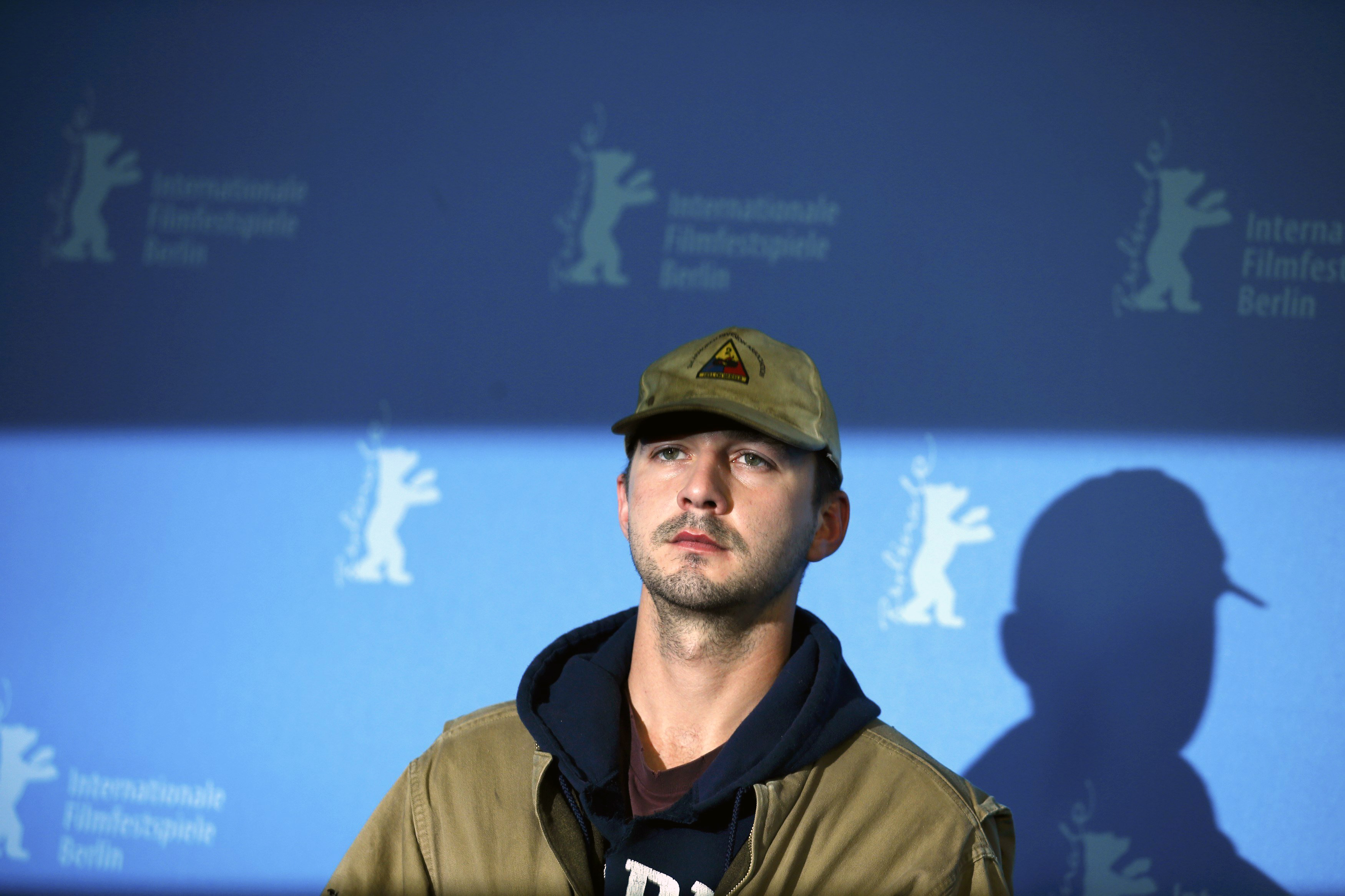 Cast member Shia LaBeouf poses during a photocall to promote the movie  Nymphomaniac Volume I  during the 64th Berlinale International Film Festival in Berlin, February 9, 2014.