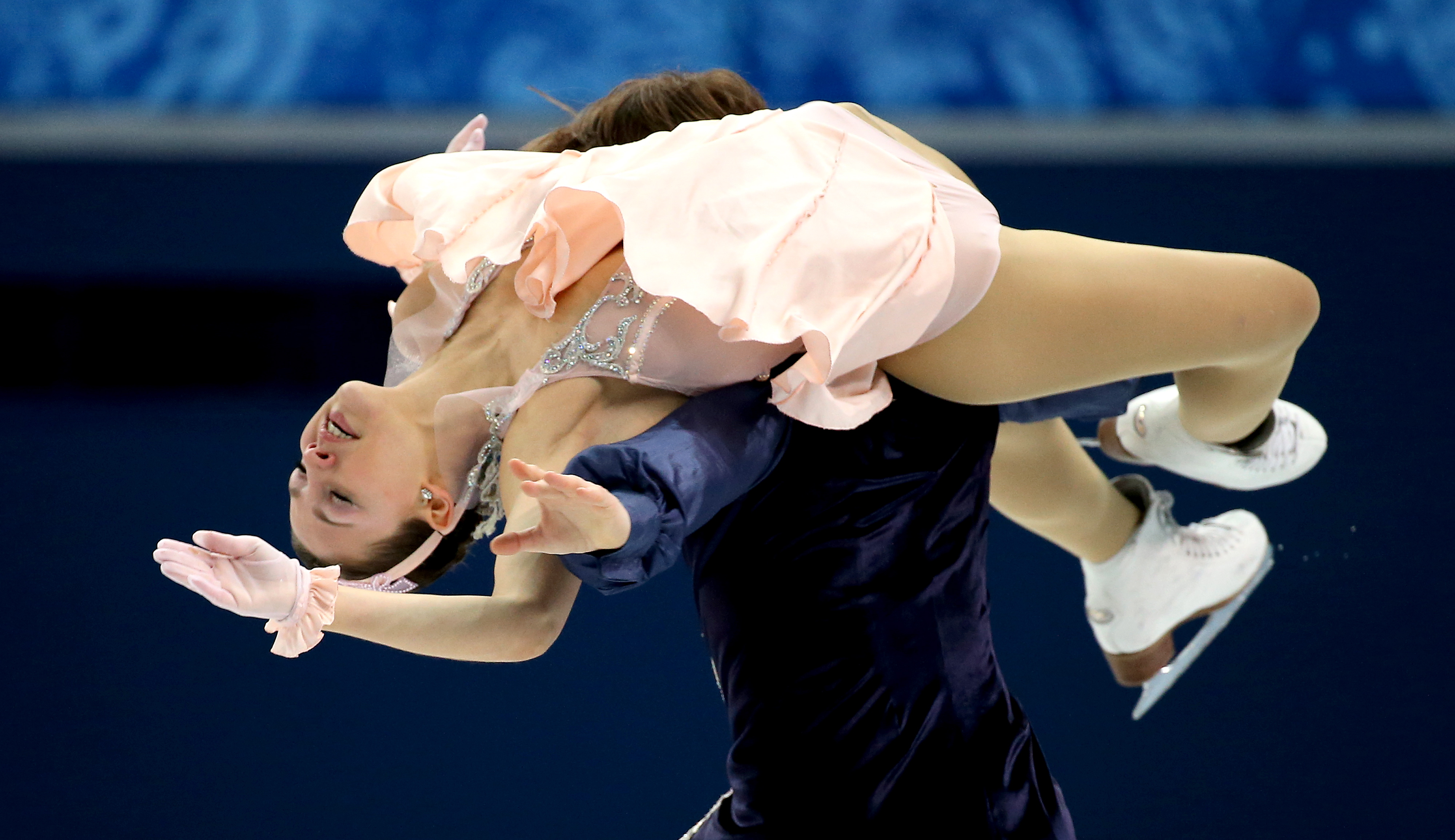 Tanja Kolbe and Stefano Caruso of Germany perform in the Figure Skating Ice Dance Free Dance at Iceberg Skating Palace.