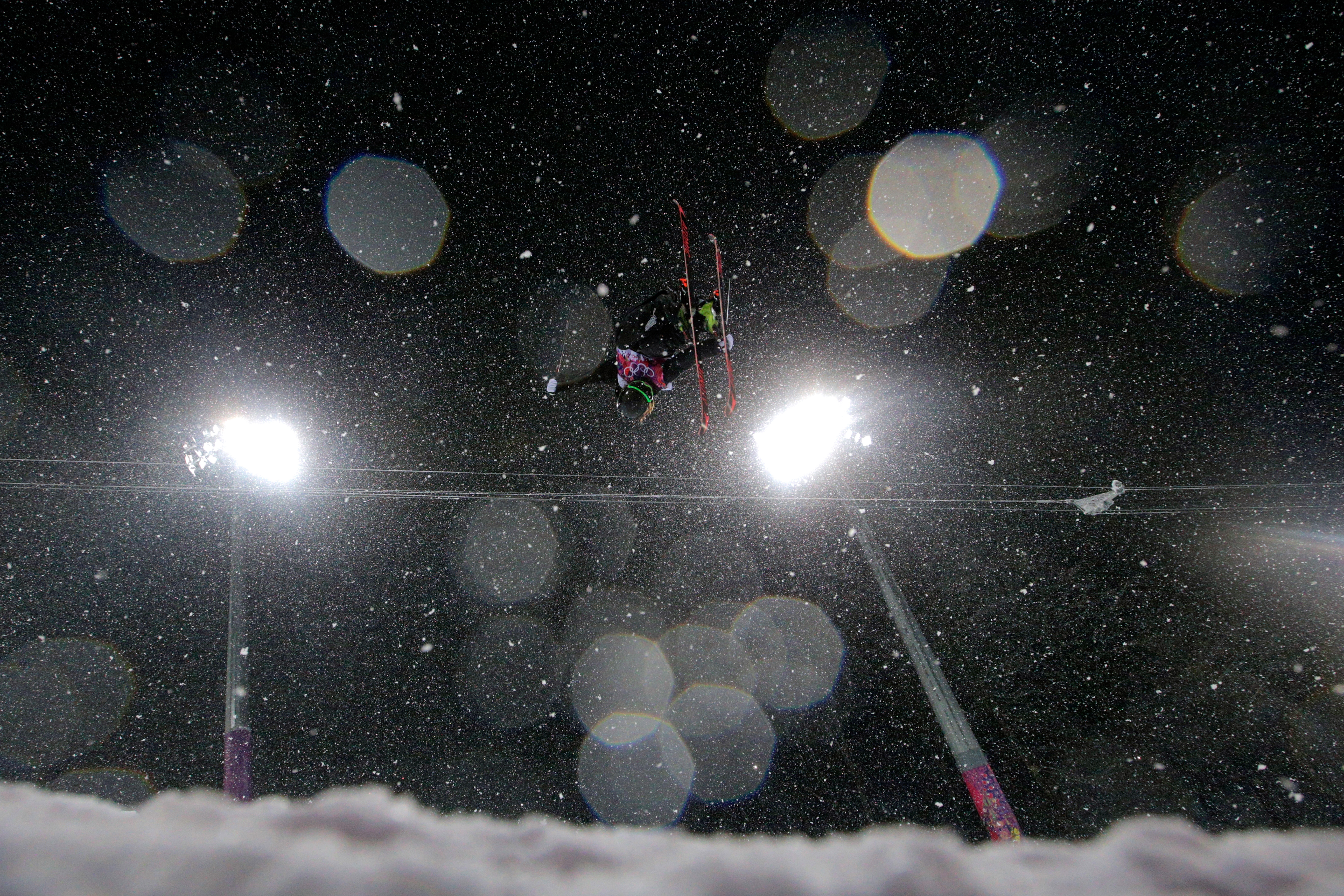 Beau-James Wells of New Zealand competes in the Freestyle Skiing Men's Ski Halfpipe Finals.