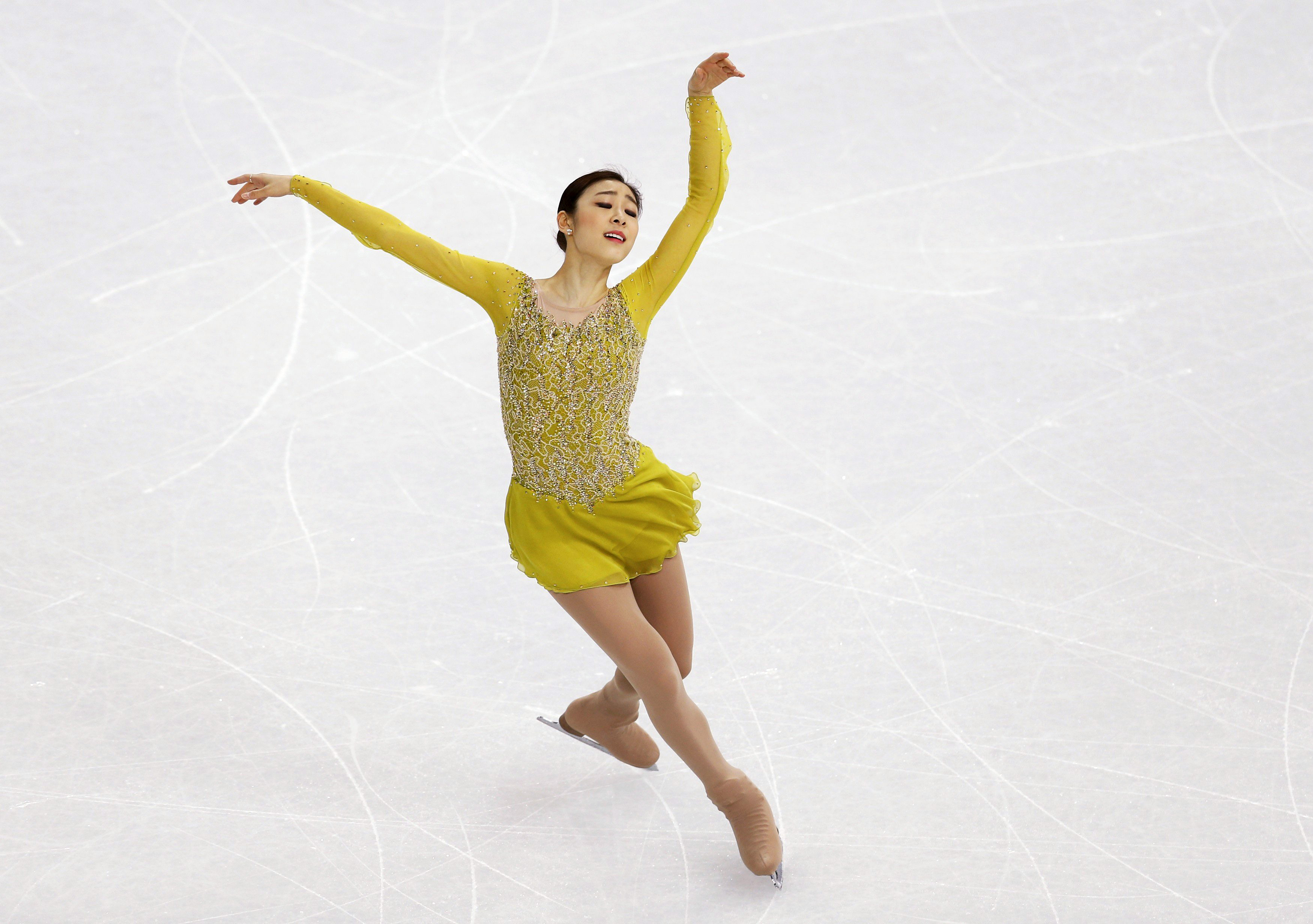 Korea's Yuna Kim competes during the Figure Skating Women's Short Program.
