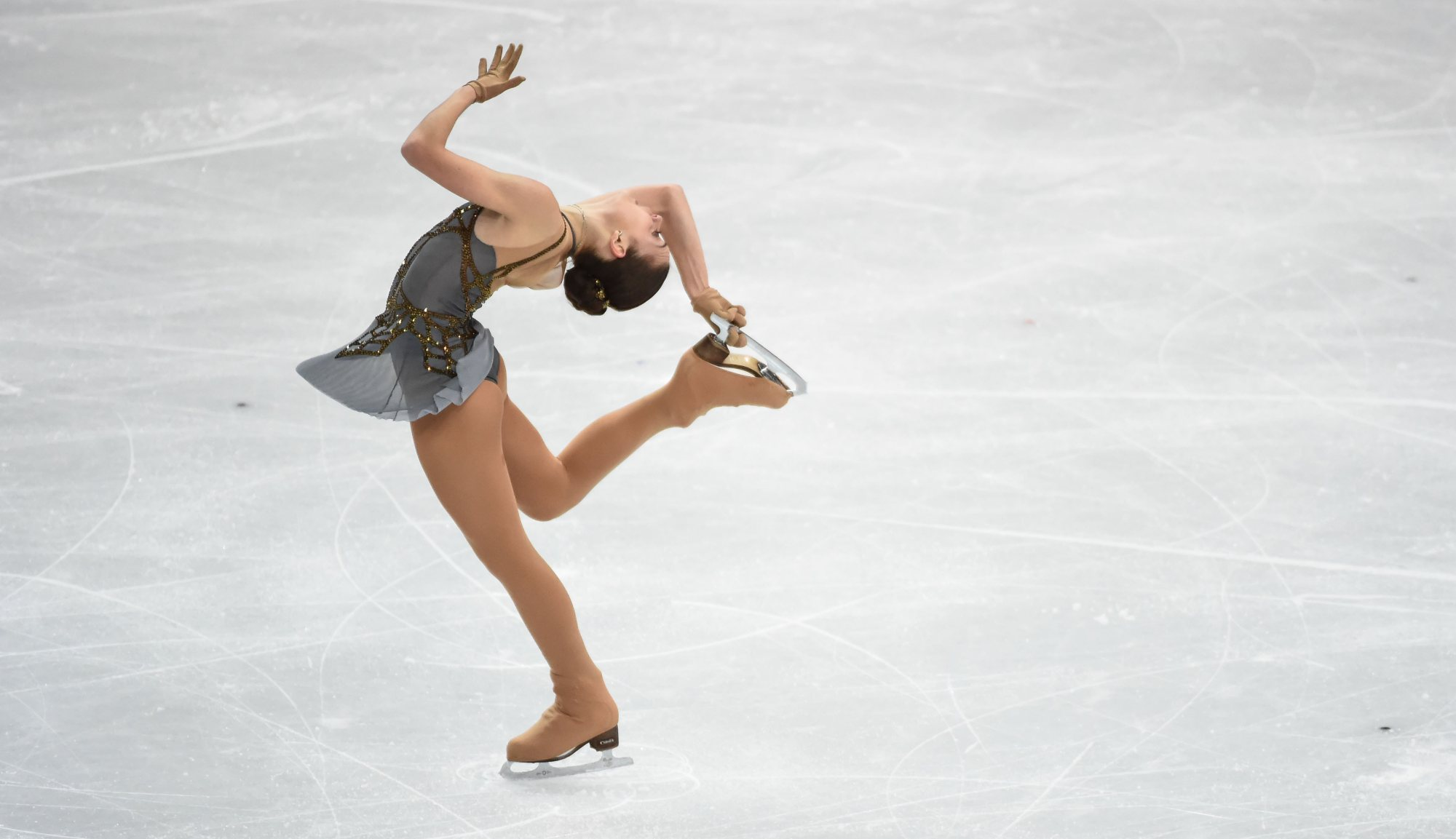 Russia's Adelina Sotnikova performs during the ladies' free skating. Adelina Sotnikova won the gold medal with a total score of 224.59 points.