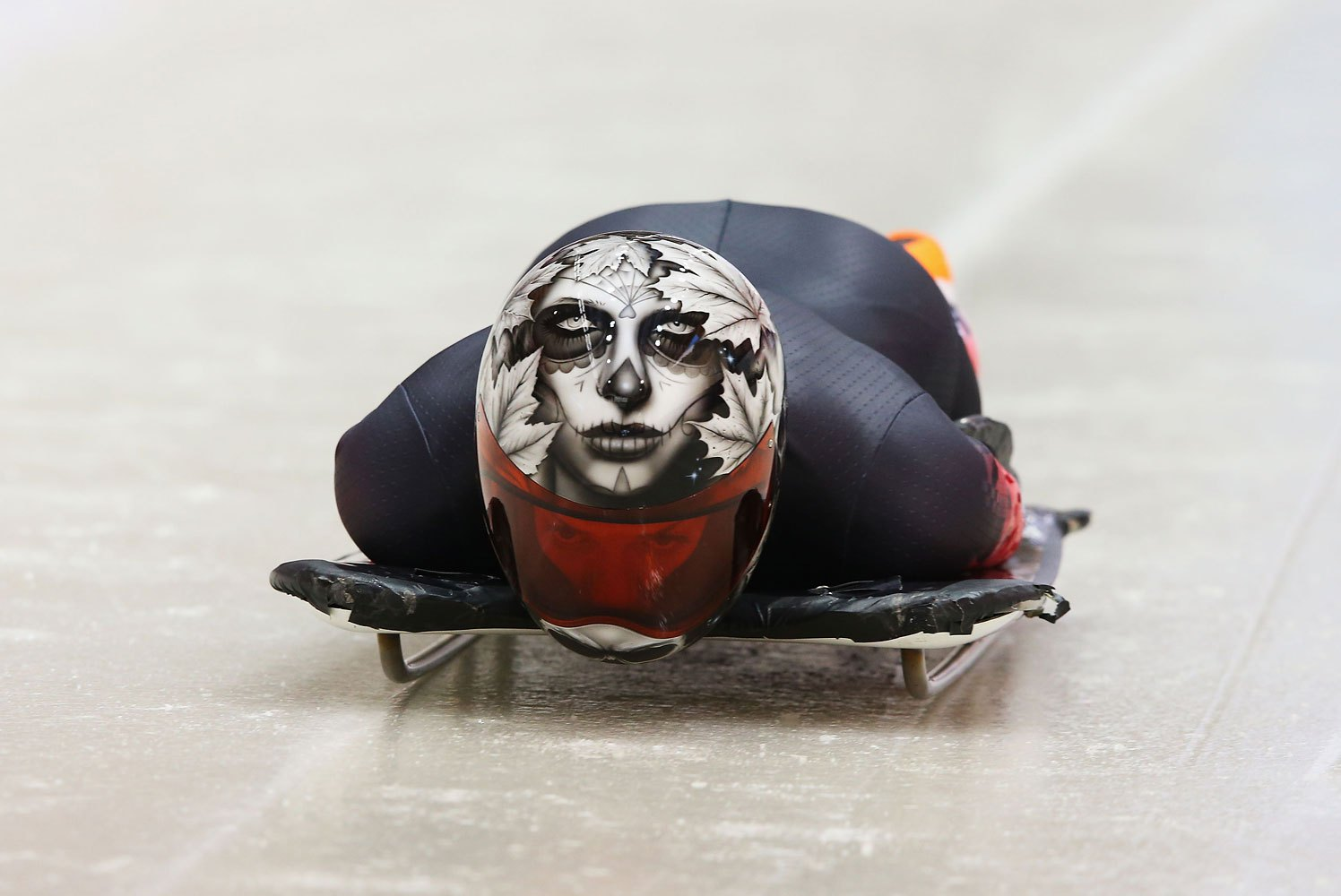 Sarah Reid of Canada makes a run during a Women's Skeleton training session on Day 1 of Winter Olympics at the Sanki Sliding Center on Feb. 8, 2014