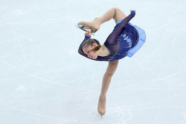 Yulia Lipnitskaya of Russia competes in the Figure Skating Team Ladies Short Program at Iceberg Skating Palace,  Feb 8, 2014.