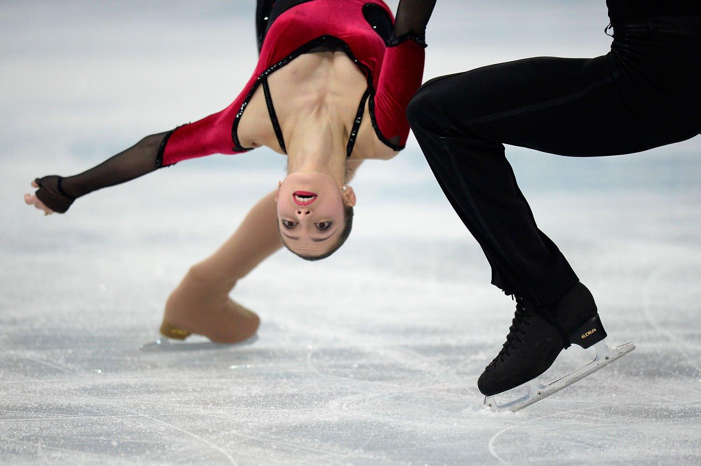 Italy's Stefania Berton and Italy's Ondrej Hotarek perform during the Figure Skating Pairs Team Free Program at the Iceberg Skating Palace, Feb. 8, 2014.