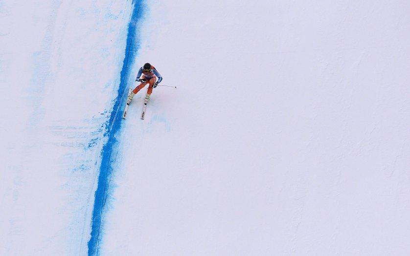 Norway's Kjetil Jansrud competes during the Men's Alpine Skiing Downhill at the Rosa Khutor Alpine Center, Feb. 9, 2014.