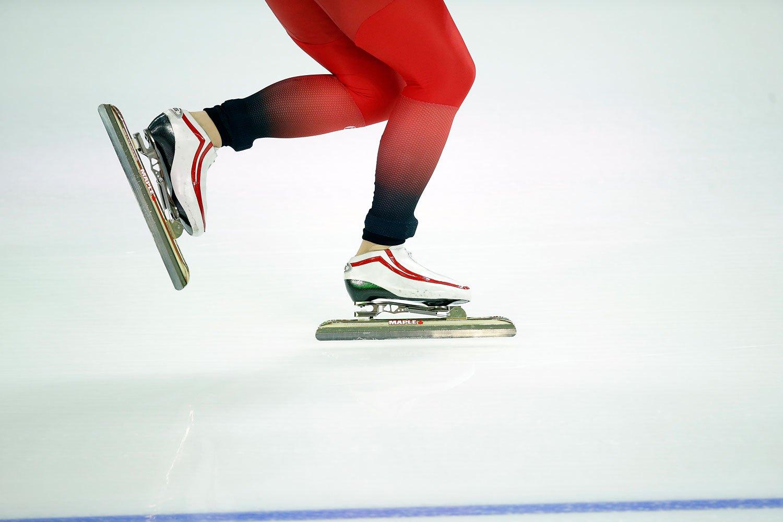 Norway's Mari Hemmer competes in the women's 3,000-meter speedskating race at the Adler Arena Skating Center, Feb. 9, 2014.