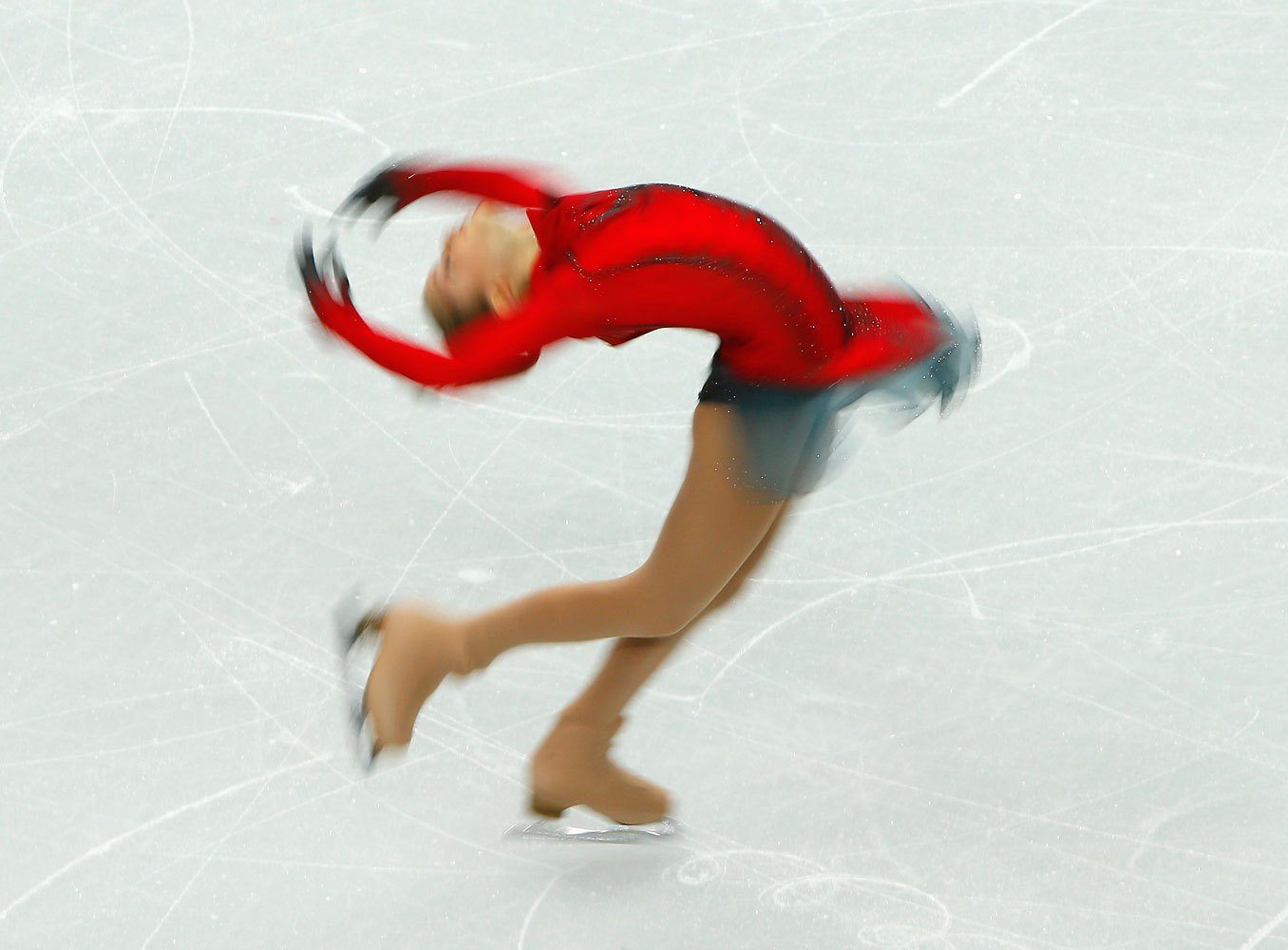 Yulia Lipnitskaya of Russia competes during the figure skating team ladies' free skating, Feb. 9 2014.