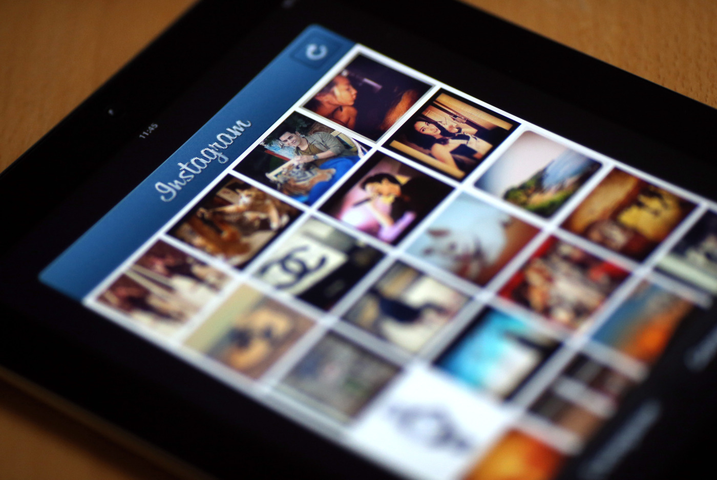 Pictures appear on the smartphone sharing application Instagram.