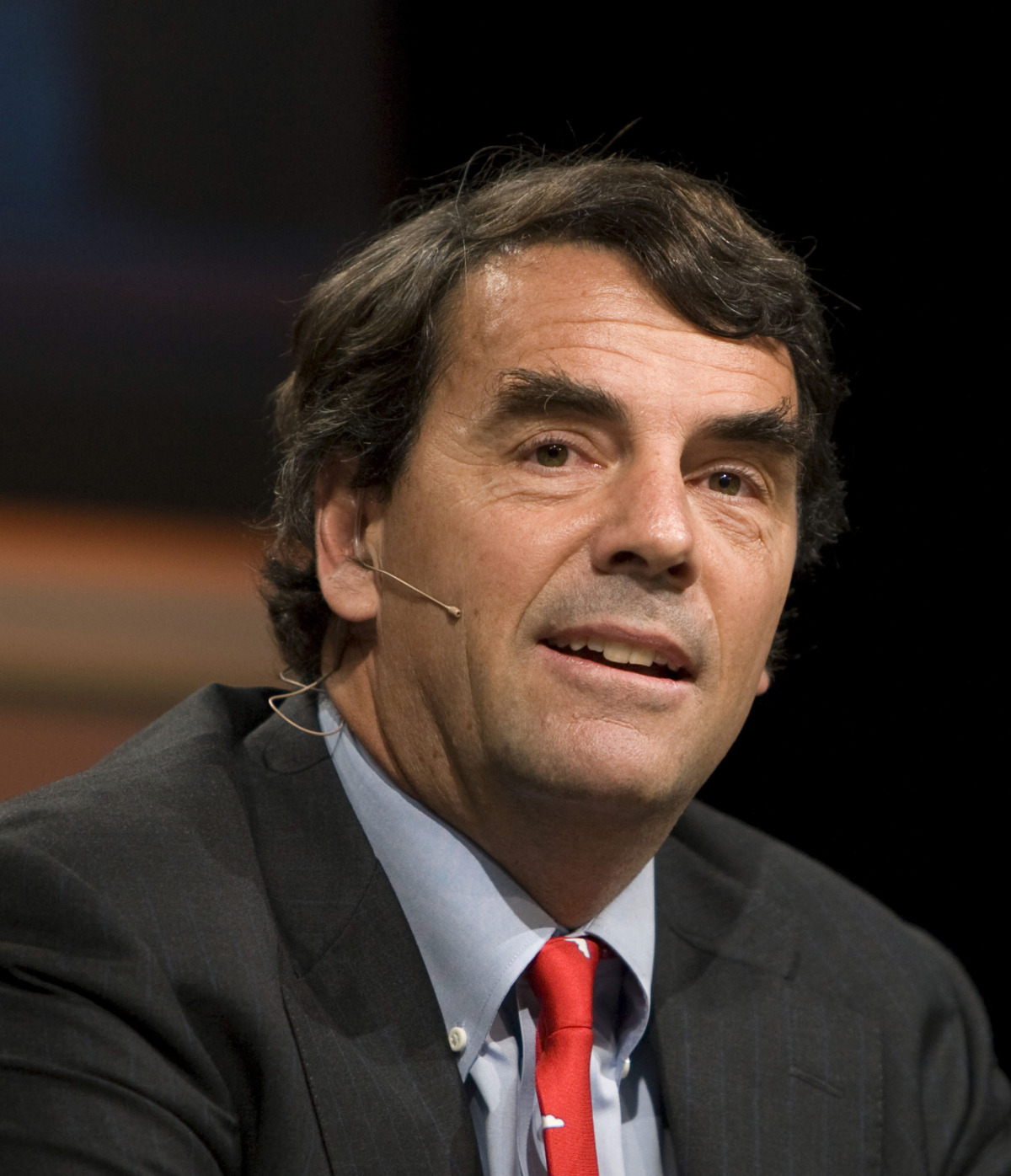Tim Draper, managing partner for Draper Fisher Jurvetson, speaks during a panel.