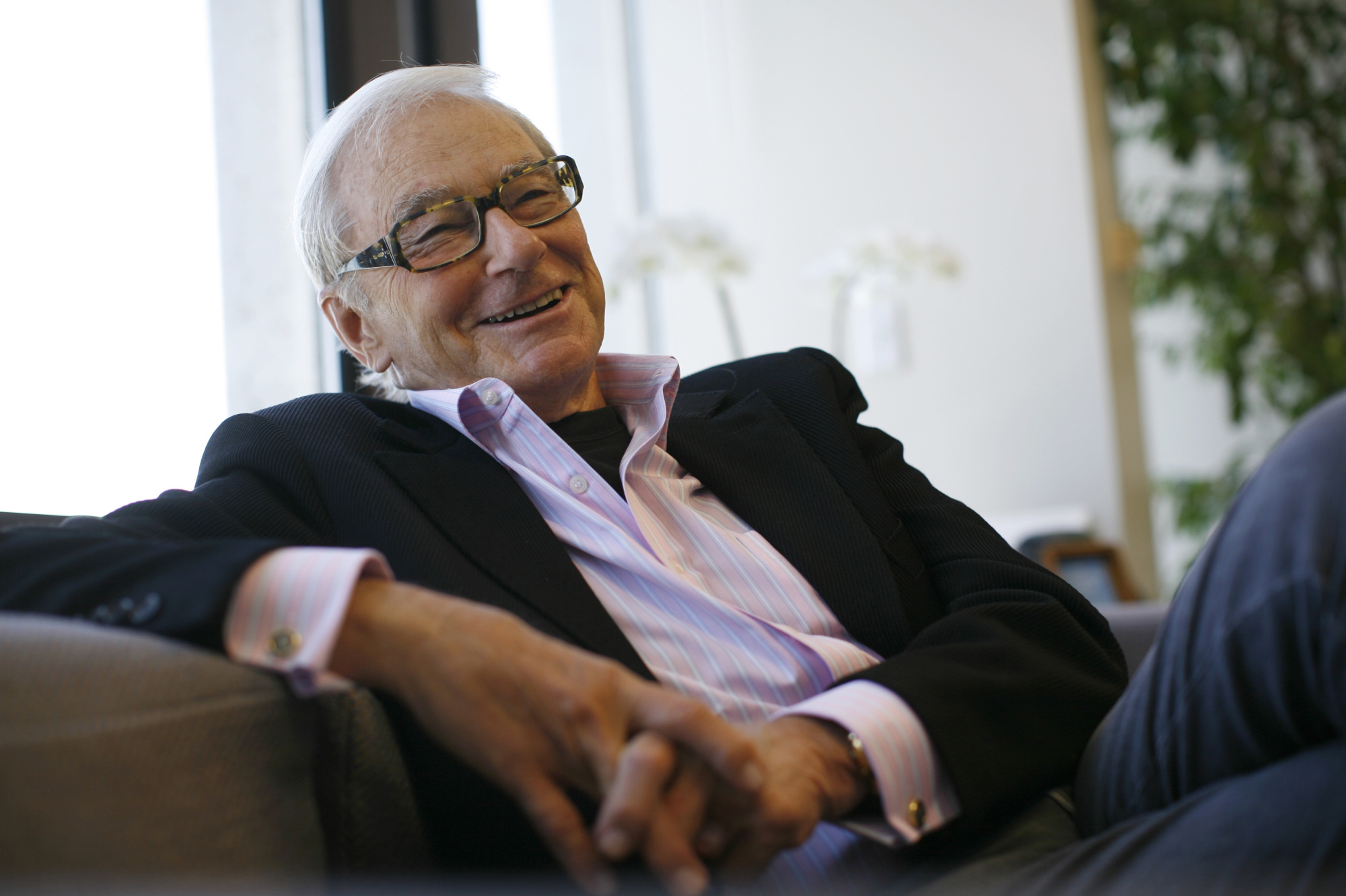 Venture capitalist Tom Perkins is interviewed in his office in San Francisco, California September 12, 2011. Perkins is a co-founder of venture capital firm Kleiner Perkins and the backer of companies ranging from Genentech to Google.