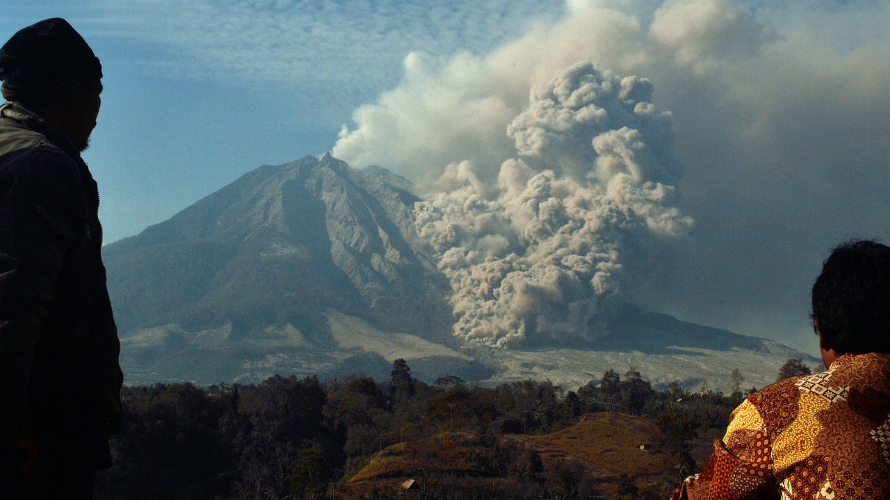 A new study suggests volcanic activity could be part of the reason why we haven't seen global warming keep pace with previous predictions.