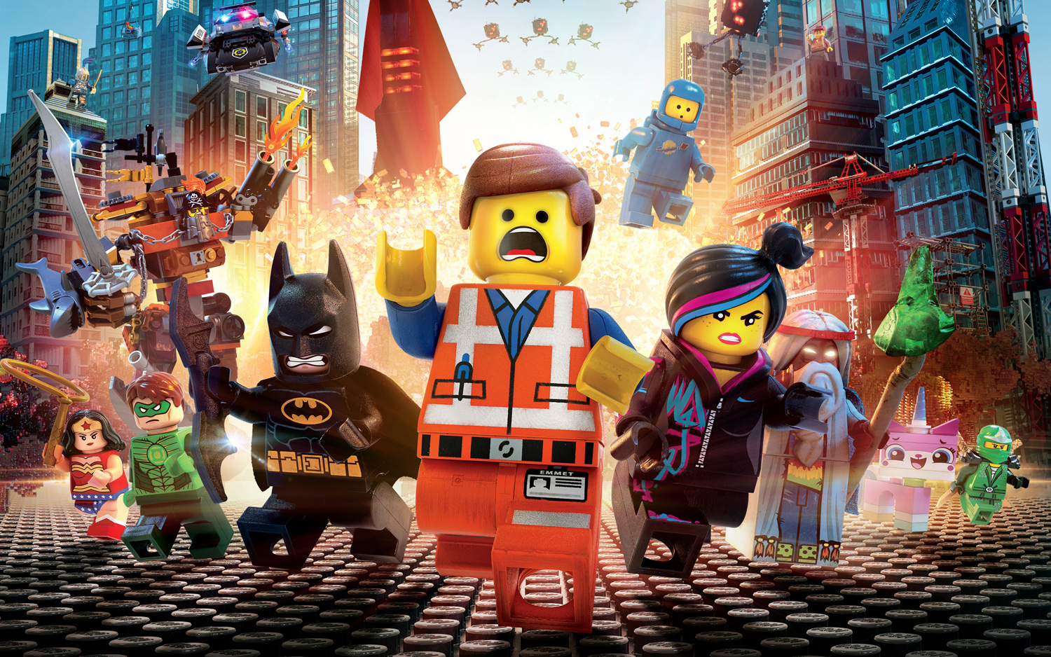Warner Brothers' The Lego Movie explodes onto screen.