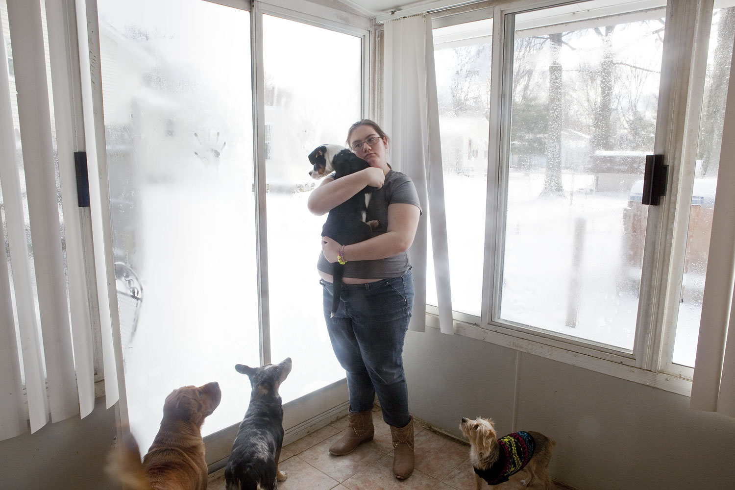 Kimberly Rhodes photographed Friday, January 3, 2014 at her family home in Boardman, Ohio