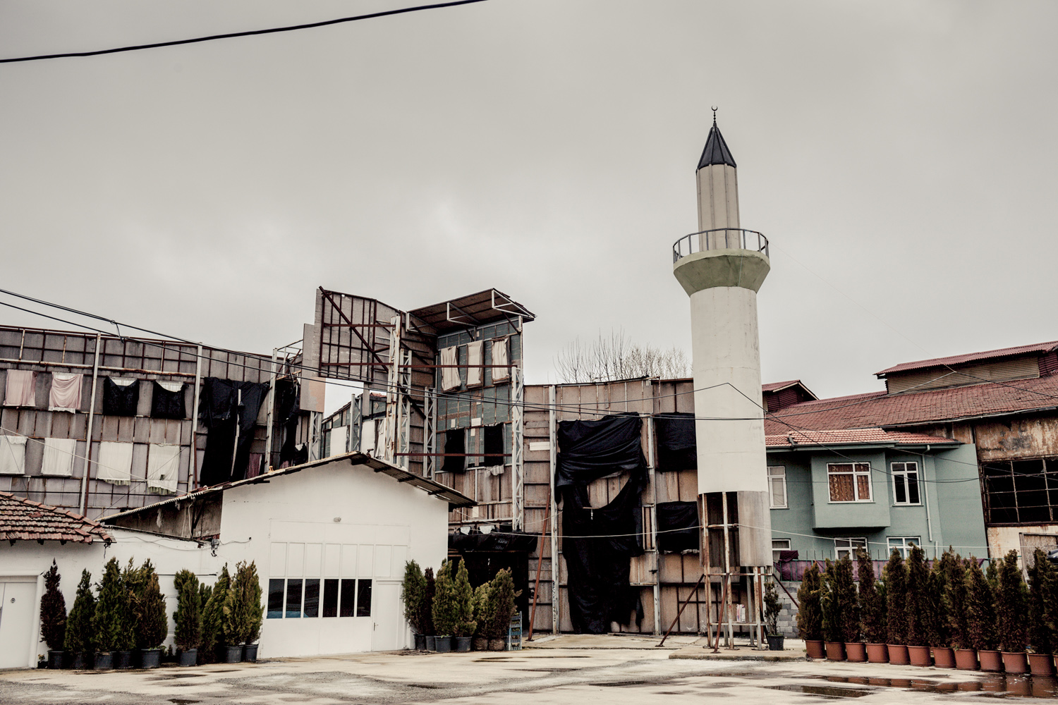 A fake Mosque being built on a film lot, Beykoz district, Istanbul, February 2013.