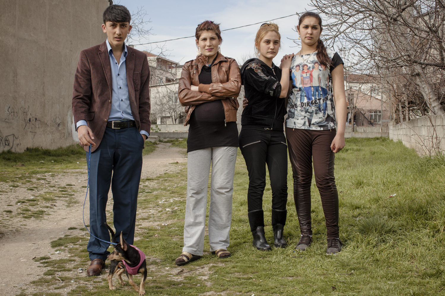 Residents of the Kartal suburb watch filming in progress, March 2013.
