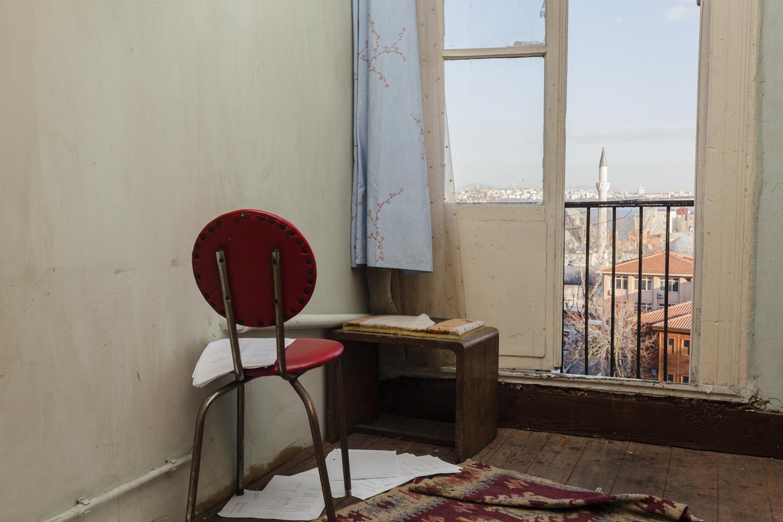 Scripts in an apartment block, Istanbul, April 2013.