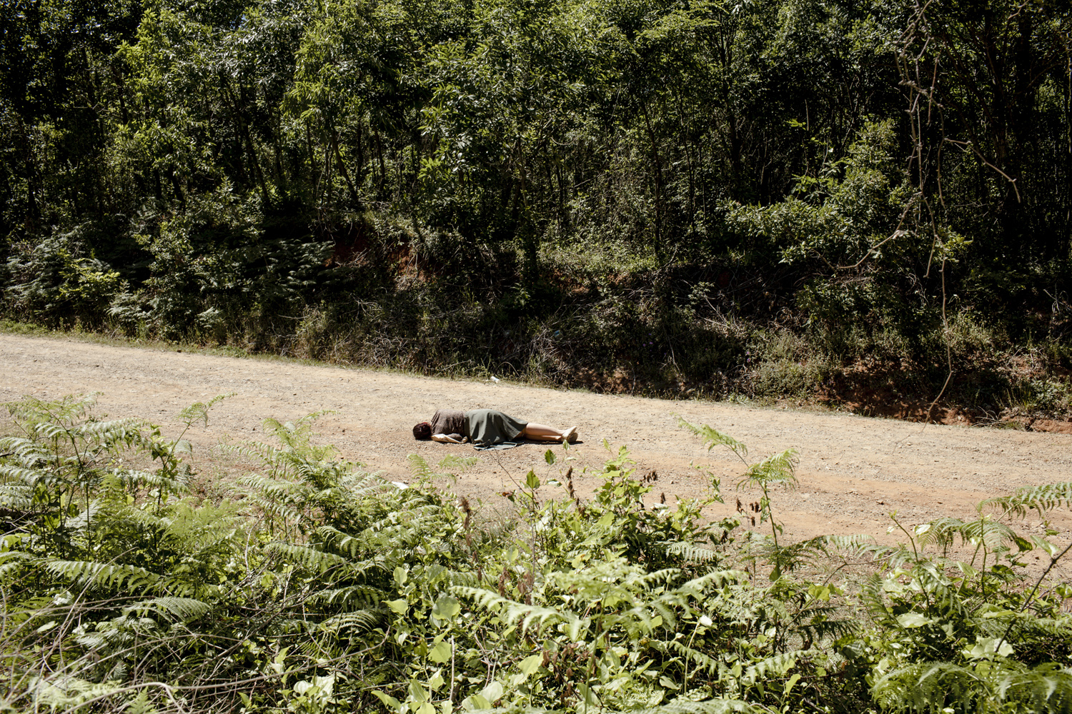 A murder scene, outskirts of Istanbul, May 2013.
