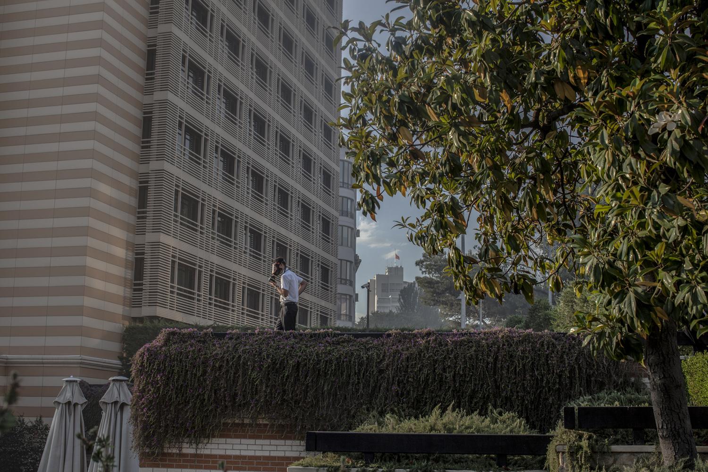 Hotel security guard, near Gezi Park, Istanbul, June 2013.