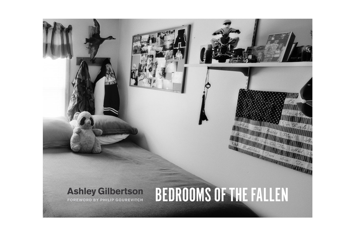Ashely Gilbertson's Bedrooms of the Fallen, published by the University of Chicago Press Equal parts haunting and hopeful, Gilbertson peers into the sacred spaces of fallen US soldiers to reveal the things they left behind.