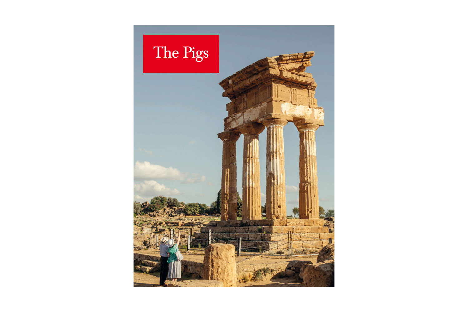 Carlos Spottorno's The Pigs, published by RM/Phree PIGS (Portugal, Italy, Greece and Spain), a convenient acronym for a region rocked by economic collapse, appear as backhanded vacation snapshots, loaded with sarcasm and leering at common cultural stereotypes.