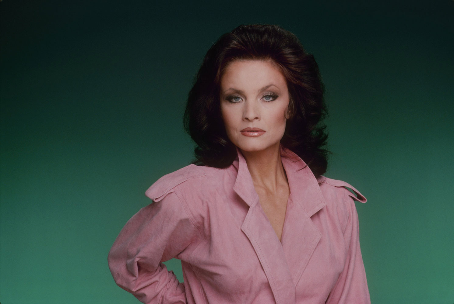 Kate O'Mara, in a publicity photo for Dynasty, January 15, 1986.