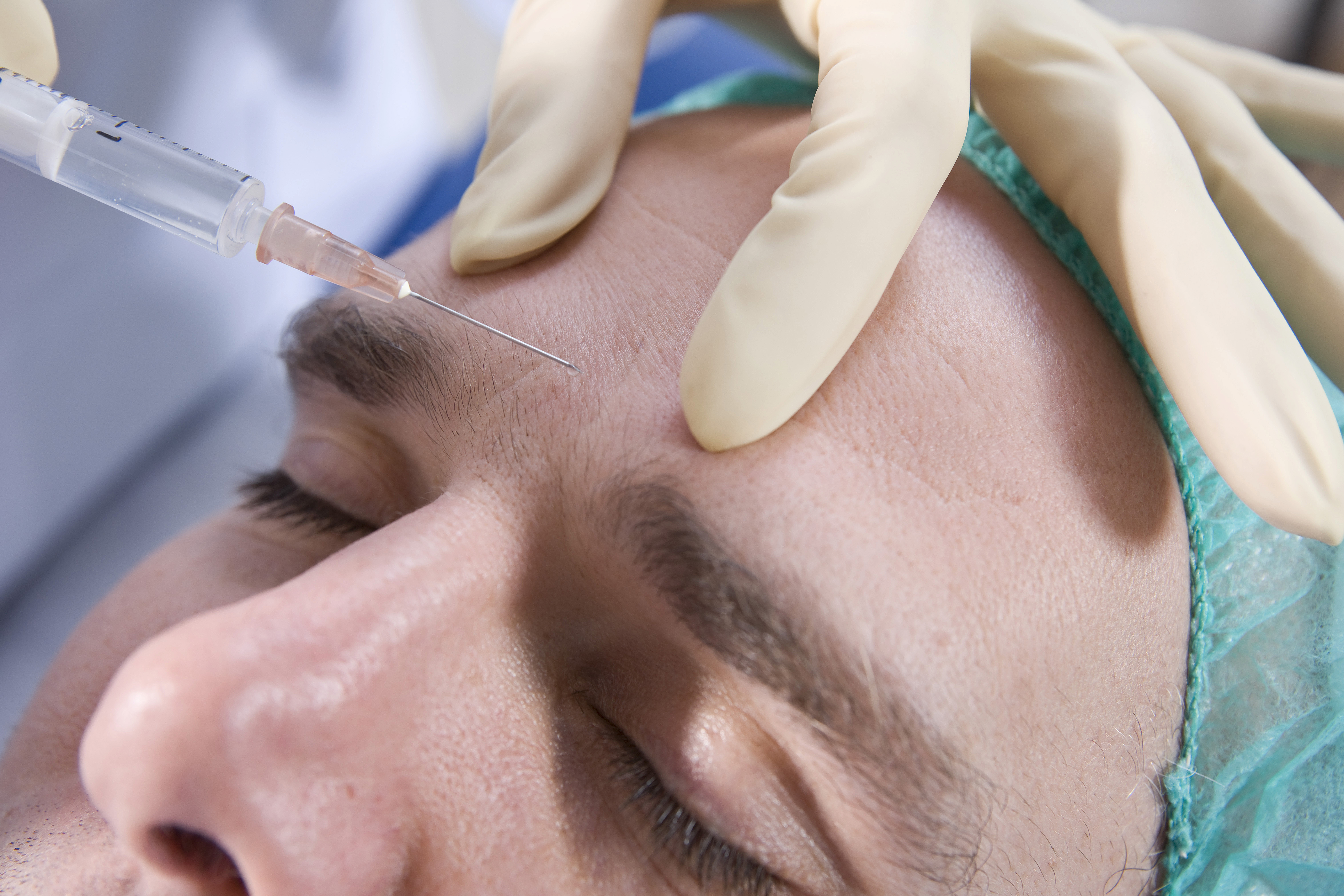 Patient having a Botox injection